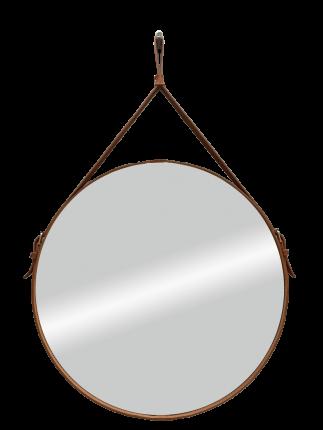 """Зеркало Континент """"Ритц"""" D500 на ремне коричневый из натуральной кожи/Б032"""