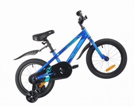 """Велосипед NOVATRACK 16"""" JUSTER синий, сталь, тормоз нож, пласт крылья, полная защ. цепи"""