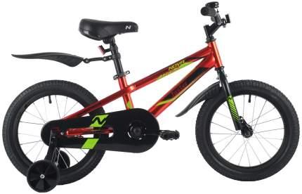 """Велосипед NOVATRACK 16"""" JUSTER красный, сталь, тормоз нож, пласт крылья, полная защ. цепи"""