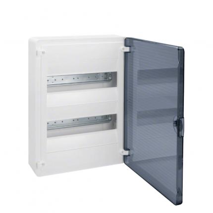 Щит открытой установки Hager, 24М, с прозрачной дверцей VS212TD