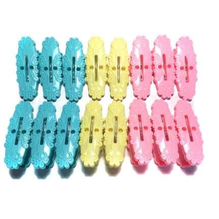 Набор разноцветных бельевых прищепок Plastic Family Utensil, 16 шт