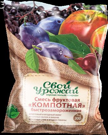 Смесь фруктово-ягодная Свой урожай Компотная быстрозамороженная 300 г