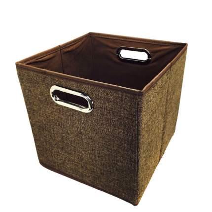 Открытый короб для хранения вещей, 25х25х25 см (Цвет: Коричневый )