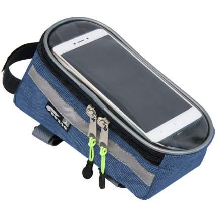 Велосумка на раму c чехлом для смартфона COURSE Master - Синяя