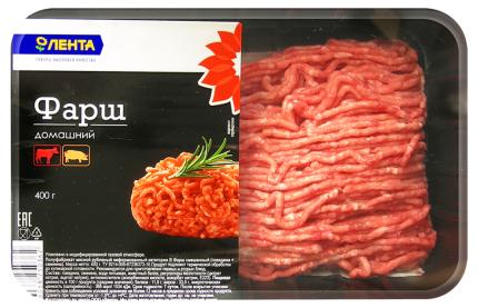 Фарш свино-говяжий Лента домашний охлажденный 400 г