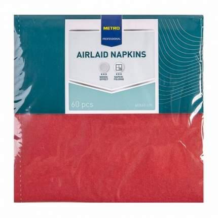 Салфетки Metro Professional бумажные однослойные бордовые 40 х 40 см 60 шт