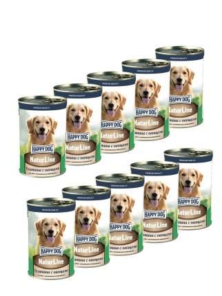 Консервы для собак Happy Dog , телятина с овощами, 10шт, 410г