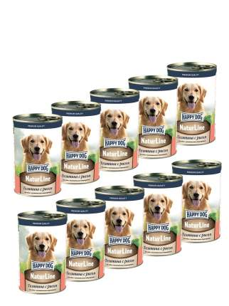 Консервы для собак Happy Dog , телятина с рисом, 10шт, 410г