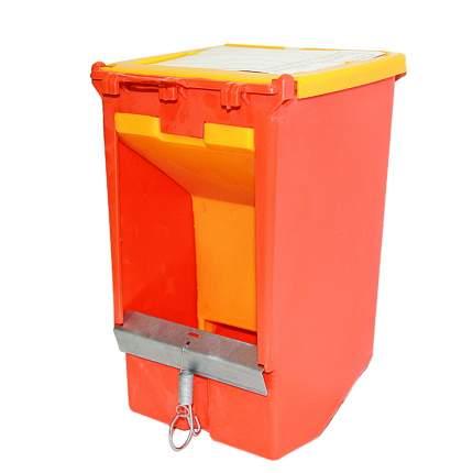 Кормушка бункерная для кроликов Novital 2072AF000, 26 см, с пластиковой крышкой