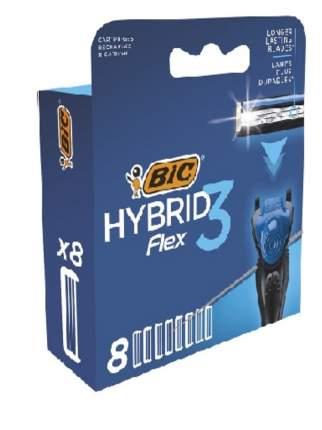 Сменные кассеты BIC Flex 3 Hybrid 8 шт