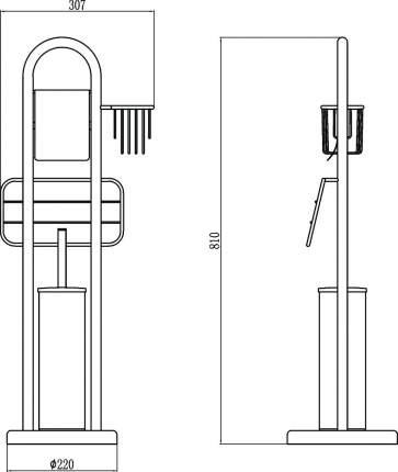Напольная стойка (4 в 1) Savol S-00Y709