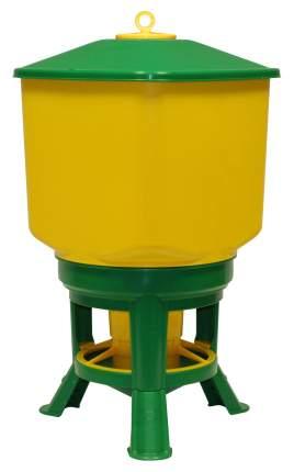 Кормушка бункерная для кур Novital Kubic Premium 35кг, с разделительной решеткой на ножках