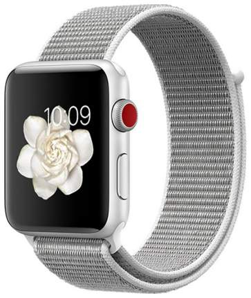 Чехол для смарт-часов Eva для Apple Watch 42/44 mm Серый/Белый (AWA009WS)