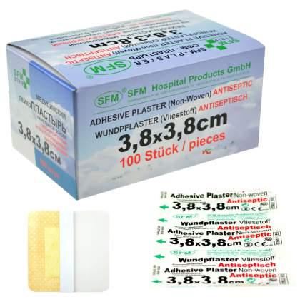 Лейкопластырь бактерицидный 3,8 см х 3,8 см  SFM 100 шт.