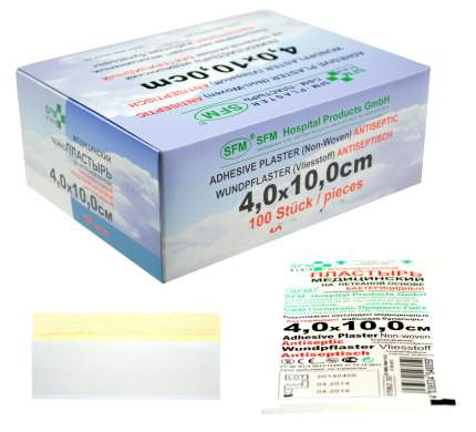 Лейкопластырь бактерицидный 4,0 см х 10,0 см SFM 100 шт.