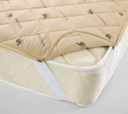 Наматрасник Верблюжья шерсть, 300 г, Тик (160х200) Текс-Дизайн