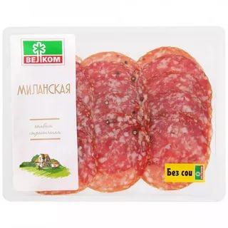 Колбаса Велком Миланская сырокопченая нарезка 150 г
