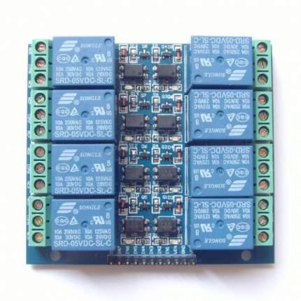 Модуль реле 5В 8-каналов (2x4) электромеханическое