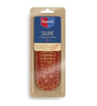 Колбаса Rapelli Салями пикантная с перцем сыровяленая нарезка 80 г
