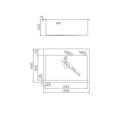 Кухонная мойка из нержавеющей стали Gerhans K36045