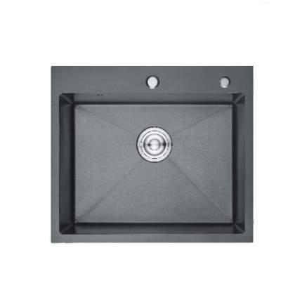 Кухонная мойка  Gerhans K35050В с PVD покрытием Прямоугольная Черный+Нержавейка