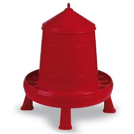 Кормушка бункерная для кур Gaun 2 кг, пластик, с решеткой, с круглыми отверстиями