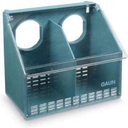 Кормушка навесная для голубей Gaun 2 секции, 17 см, пластик