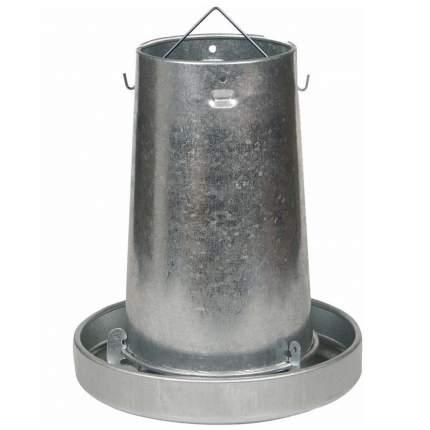 Кормушка бункерная для кур Gaun 10 кг, оцинкованная сталь