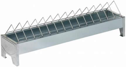 Кормушка лотковая для кур Gaun 50 см оцинкованная сталь