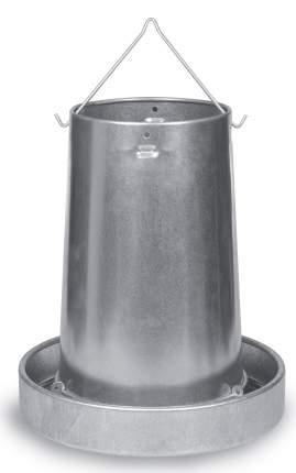 Кормушка бункерная для кур Gaun 20 кг, оцинкованная сталь