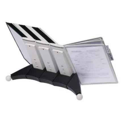 Демонстрационная система Durable Sherpa Desk Unit, настольная, 30 демопанелей, черно-серый