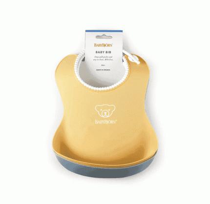 Набор нагрудников Babybjorn с карманом, нежно-желтый/нежно-голубой