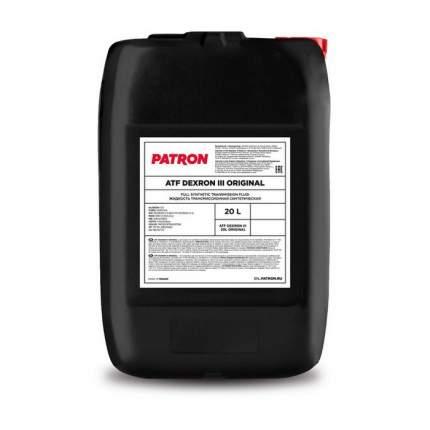 Жидкость Гидравлическая PATRON арт. ATF DEXRON III 20L ORIGINAL 20л