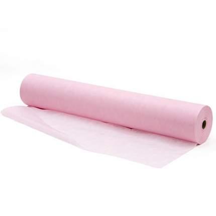 Простыня Чистовье Стандарт SMS, 200х80 см, розовая в рулоне, 100 шт