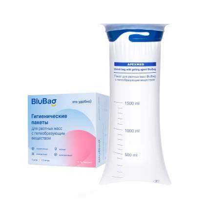 Гигиенический пакет для рвотных масс BluBag с гелеобр. веществом 1500 мл 5 шт Apexmed