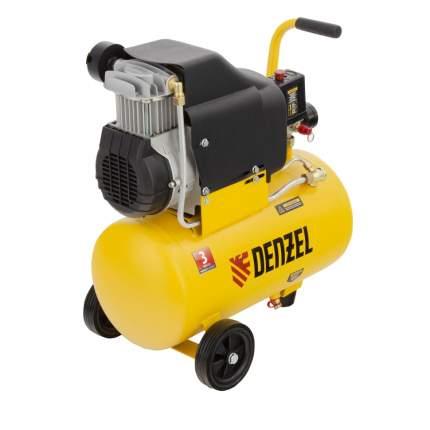 Поршневой компрессор DLC1300/24 безмасляный 1,3 кВт, 24 литра, 206 л/мин Denzel