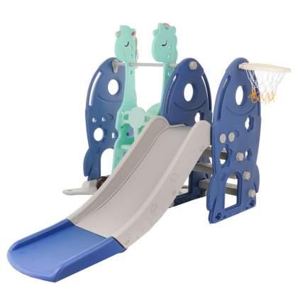 Горка-Комплекс детская PITUSO РАКЕТА горка, качели,баскет.кольцо BLUE/Синий