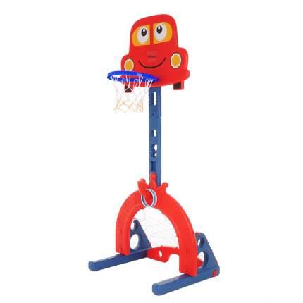 Стойка баскетбольная PITUSO МАШИНКА (с кольцебросом, футб.воротами) RED/красный