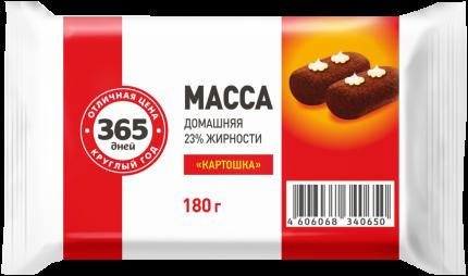 Творожная масса 365 дней Домашняя картошка 23% 180 г