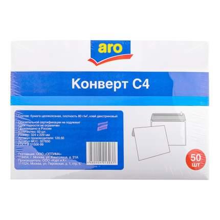 Конверт Aro декстрин С4 229 х 324 мм белый 50 штук