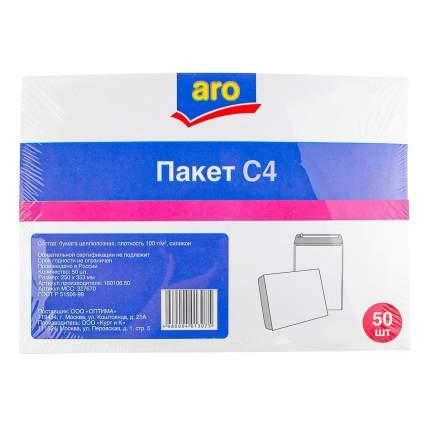 Конверт Aro силикон С4 229 х 324 мм белый 50 штук