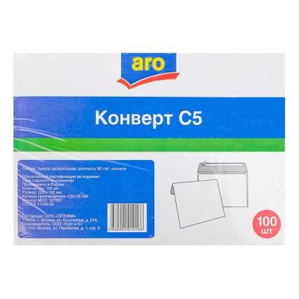 Конверт Aro силикон С5 162 х 229 мм белый 100 штук