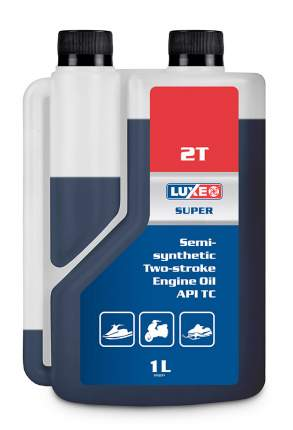 Моторное масло LUXЕ SUPER 2T API TC, JASO FD полусинтетическое 1л с дозатором