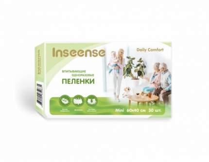 Пеленки INSEENSE Daily Comfort впитывающие одноразовые 60х40 30 шт.