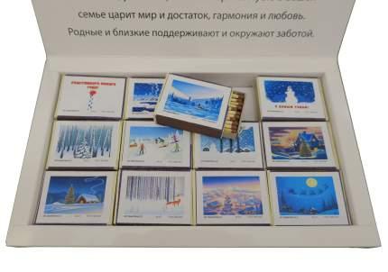 Спички сувенирные бытовые Красный Маяк С новым 2021 годом! 000015 40 шт в упаковке
