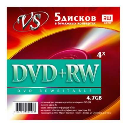 Диск VS DVD+RW VS 4.7 Gb 5шт