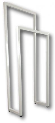 Лофт-вешалка для одежды и полотенец в стиле Лофт. Высота стоек 90 и 60см, Белая