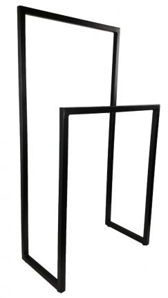 Лофт-вешалка для одежды и полотенец в стиле Лофт. Высота стоек 90 и 60см, Черная