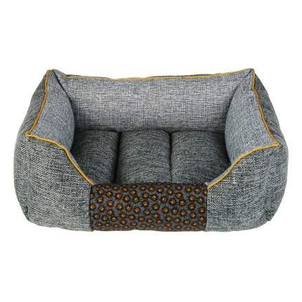 Лежанка для собак PerseiLine ЛОФТ ХАЙП пухлик №2 текстиль 46х36х20 серый