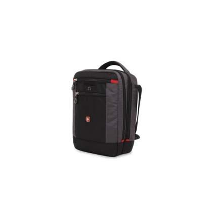 Сумка-планшет Swissgear, черный/серый, 22х10х29 см